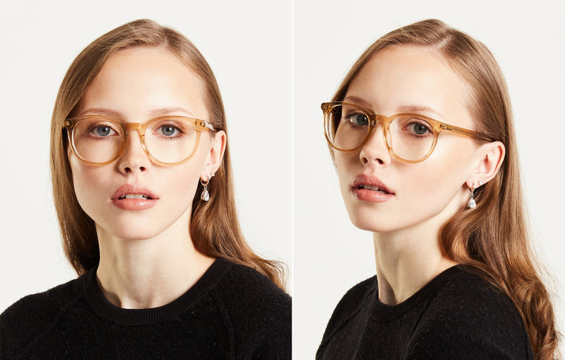 Crystal | Clear Round Glasses