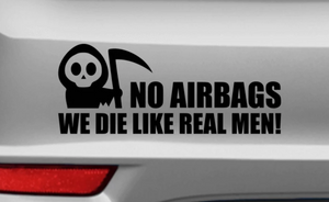 No Airbags - Autosticker - Print Fresh
