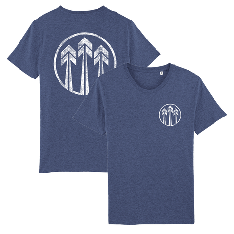 John Butler Trio 'Arrows Logo' Blue T-Shirt