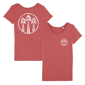 John Butler Trio 'Arrows Logo' Red T-Shirt - Ladies