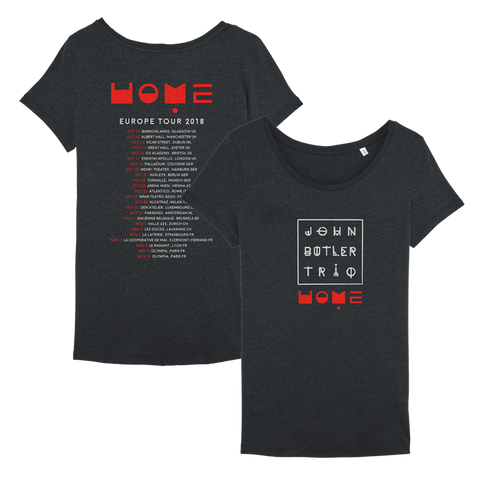 John Butler Trio 'Home' 2018 Euro Tour T-Shirt - Ladies