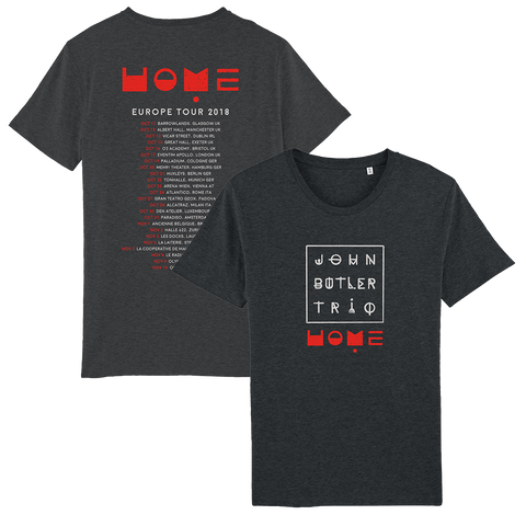 John Butler Trio 'Home' 2018 Euro Tour T-Shirt
