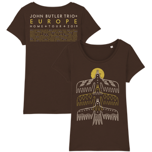 John Butler Trio '3 Bird' Dark Chocolate T-Shirt - Ladies