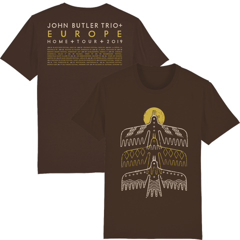 John Butler Trio '3 Bird' Dark Chocolate T-Shirt