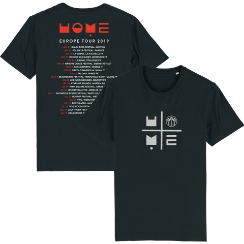 John Butler Trio 'Home Tour 2019' Black T-Shirt