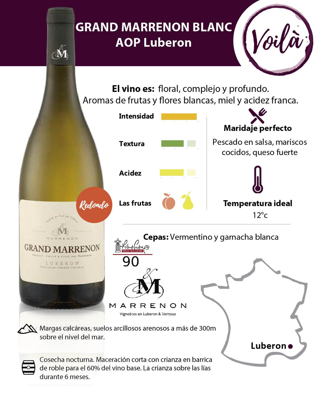 GRAND MARRENON BLANCO, AOC LUBERON