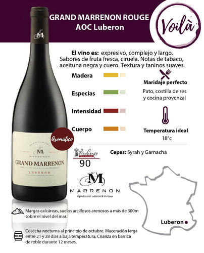 GRAND MARRENON TINTO, AOC LUBERON