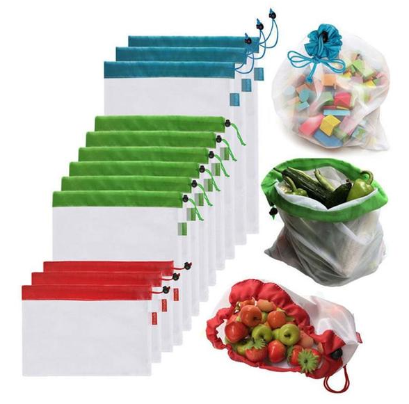 15 Pcs Reusable Produce Bags® 50% OFF ONLY TODAY