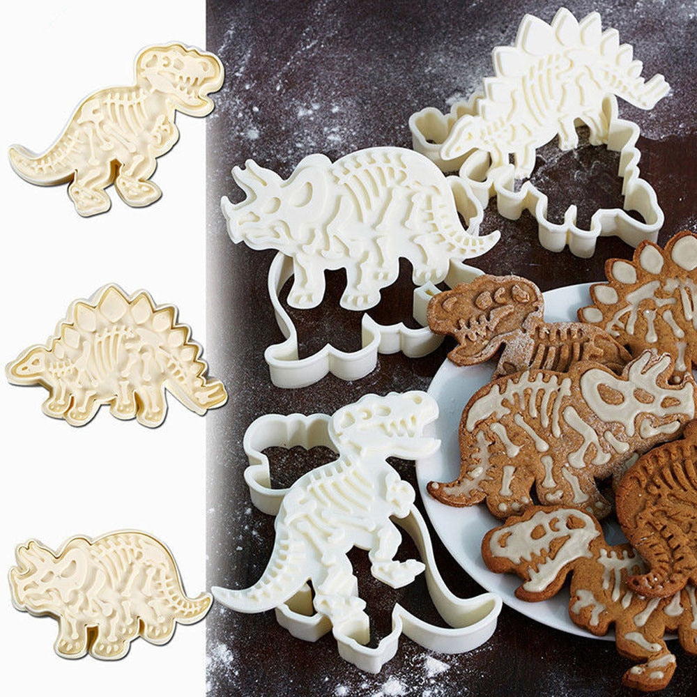 50% OFF! - Dinosaur Cookie Mold (Set of 3 High Quality Molds) - SPECIAL OFFER!