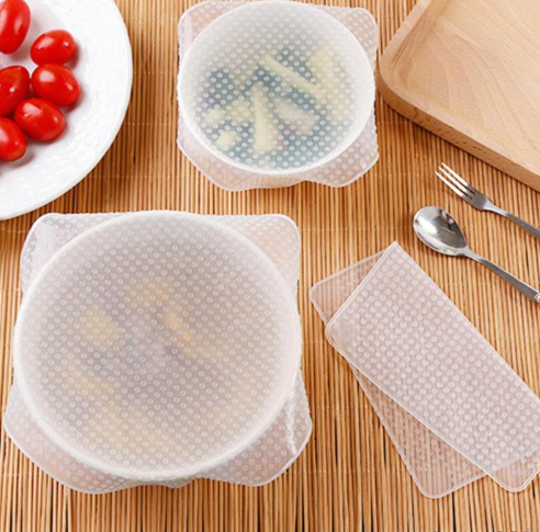 4 PACK REUSABLE FOOD WRAP Buy 1 Get 1 For Free