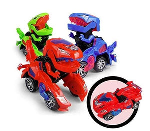 (Last Day Promotion-50% OFF)Transforming Dinosaur LED Car