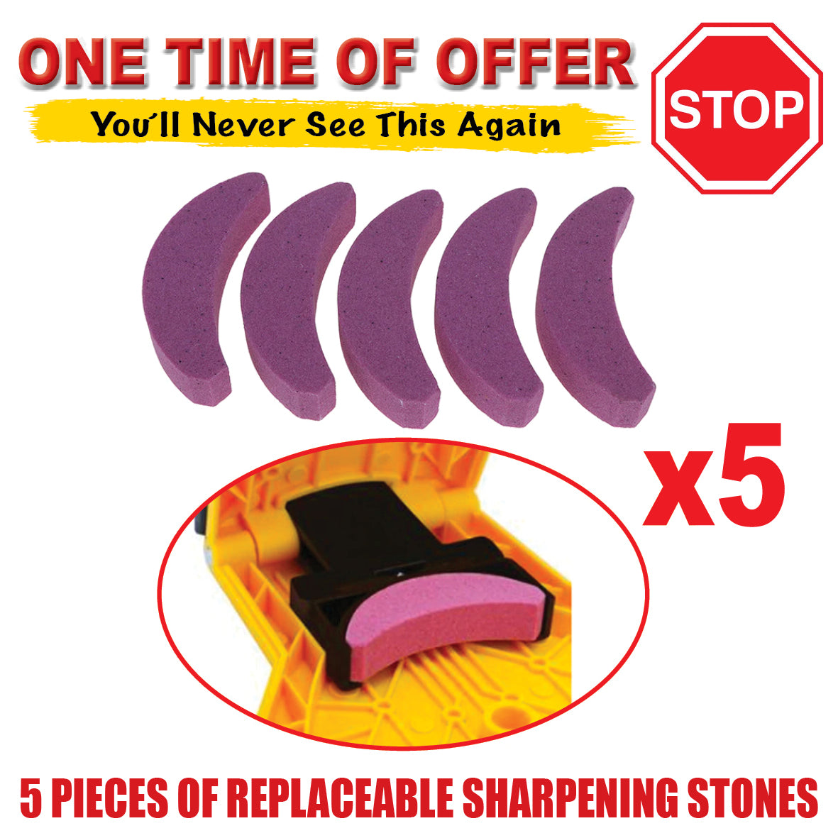5PCS Sharpening Stone Whetstone Replacement - SPECIAL OFFER 🔥