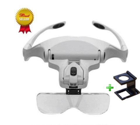 Illuminated Head Magnifier + Lupa Optical 8x of GIFT - 50% OFF ONLY TODAY !!!
