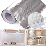 Aluminum Foil Kitchen Stickers Self Adhesive Oil Proof Stove Cabinet Stickers