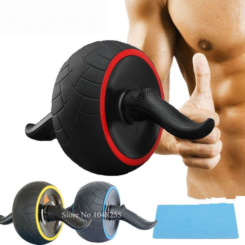 3-in-1 AB Wheel Roller Kit with Push Up Bars and Knee