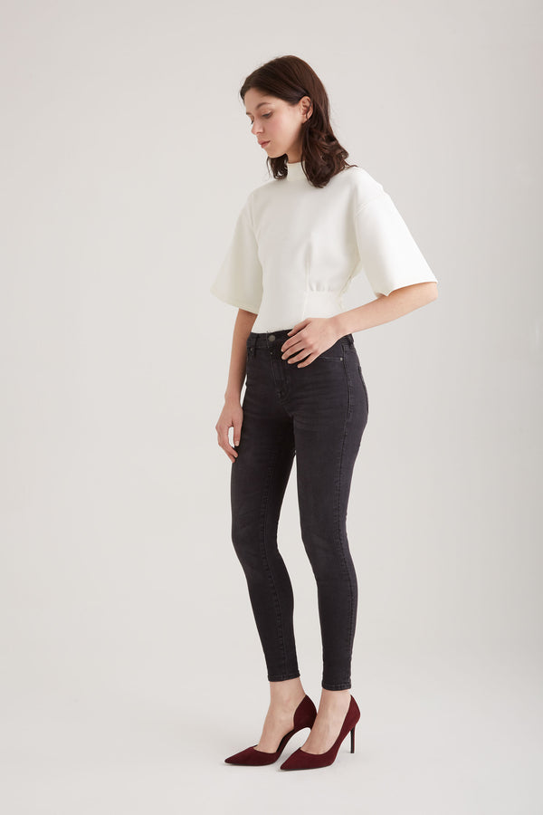 Sophia - Super Skinny Stretch - Black Vintage