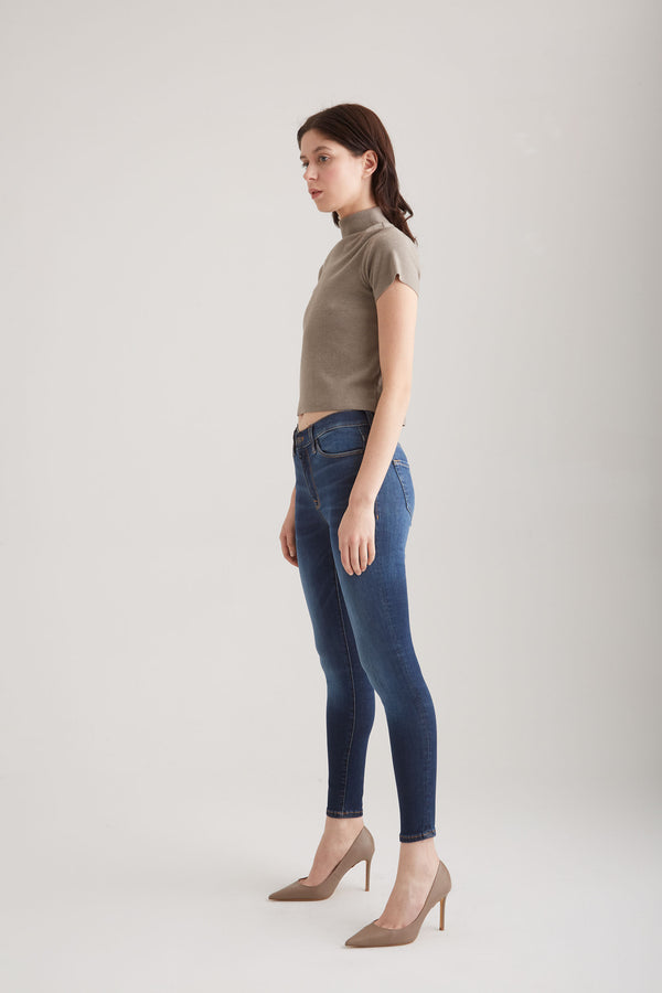 Sophia - Super Skinny Stretch - Dark Vintage Blue