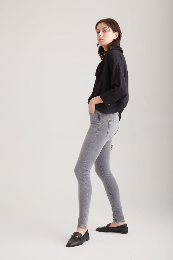 Sophia - Super Skinny Stretch - Grey Vintage