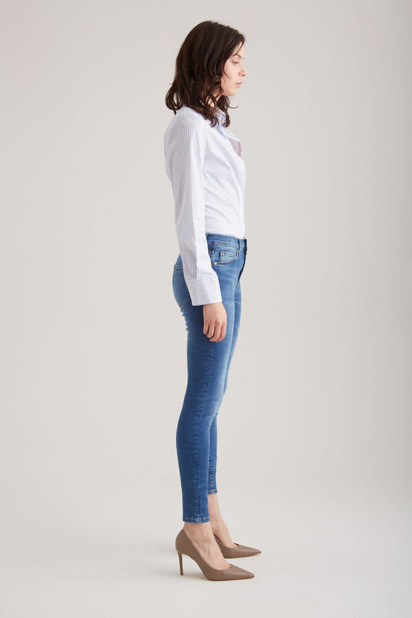 Sophia - Super Skinny Stretch - Blue Vintage