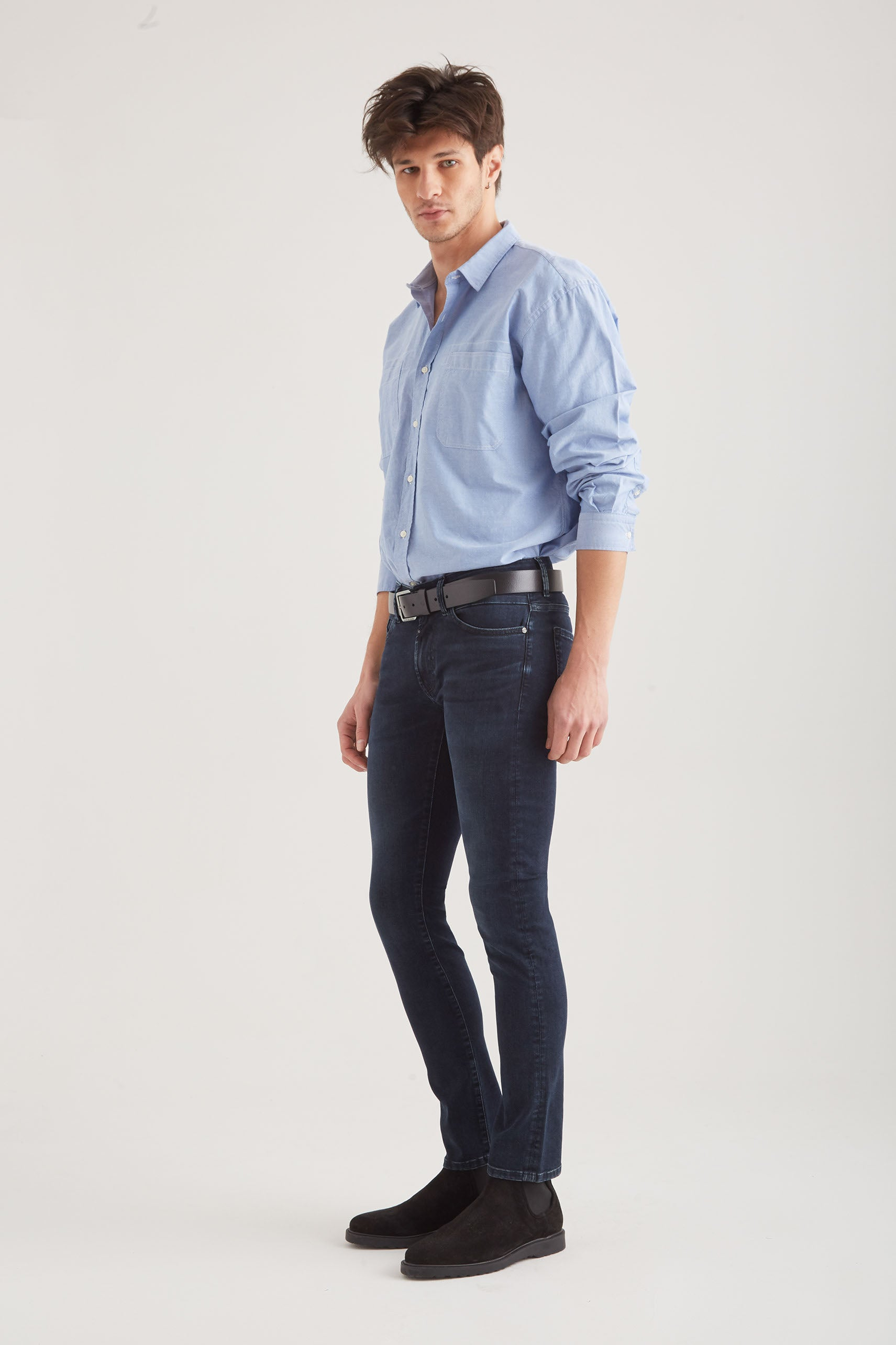 Leo - Slim Fit Wellflex - Blue Black