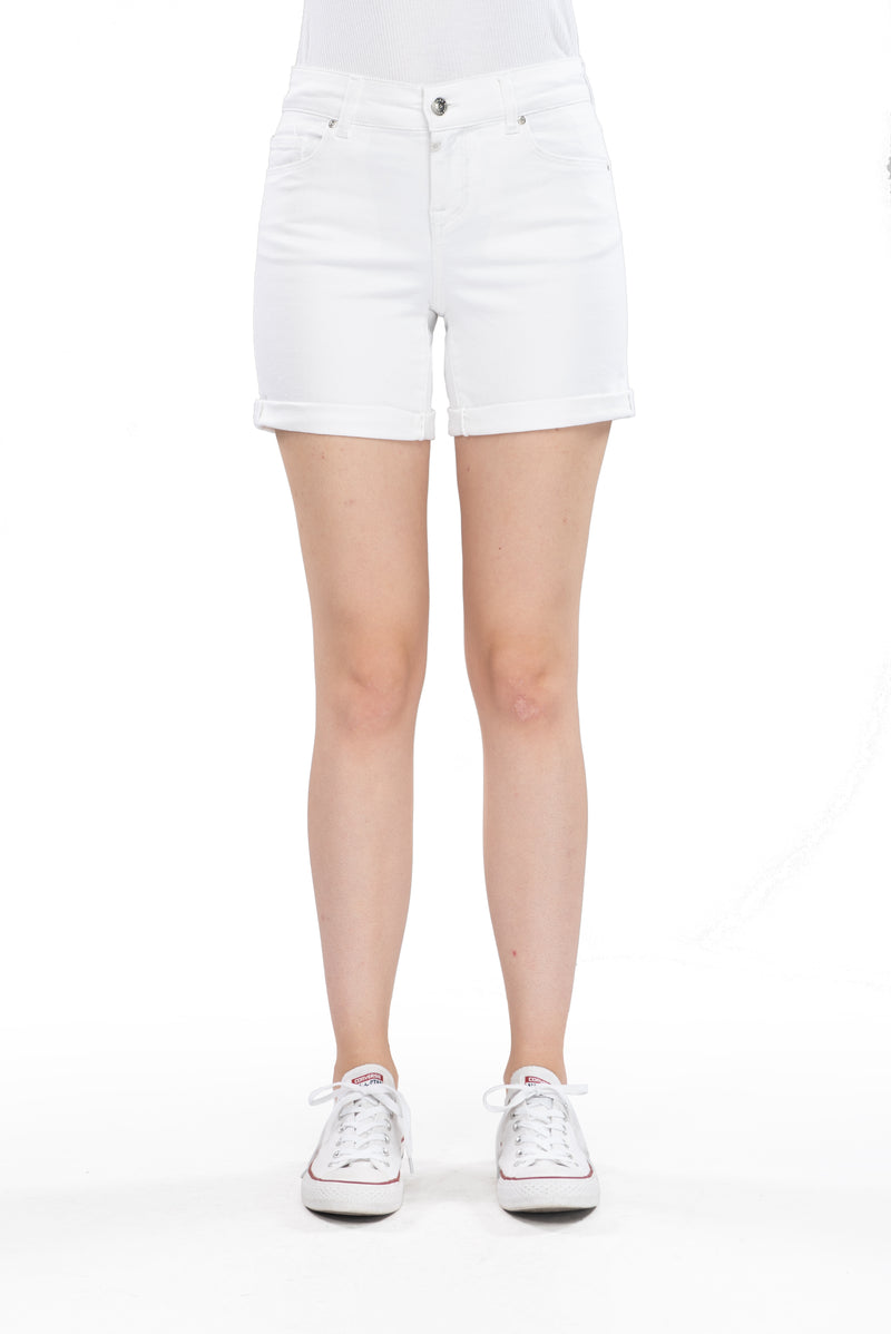 Emma - Denim Short - White