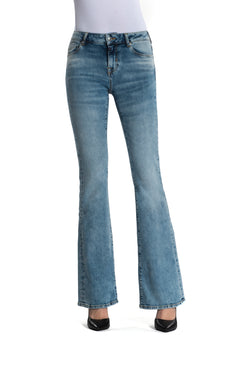 Laura - Flare Jeans - Medium Blue