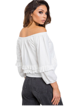 Ace of Blue - Carries - Blouse - White