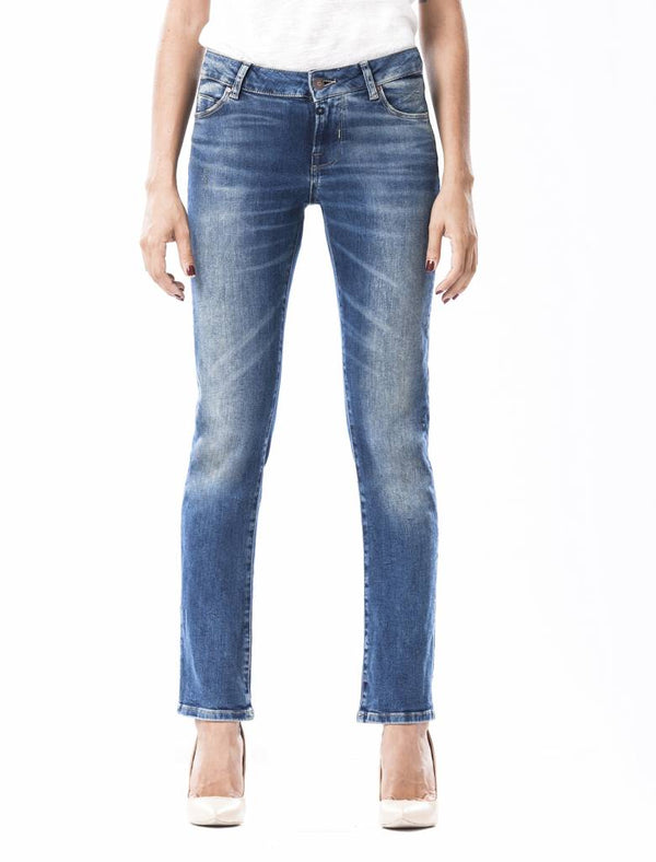 Susan Dark Vintage Blue Straight Jeans