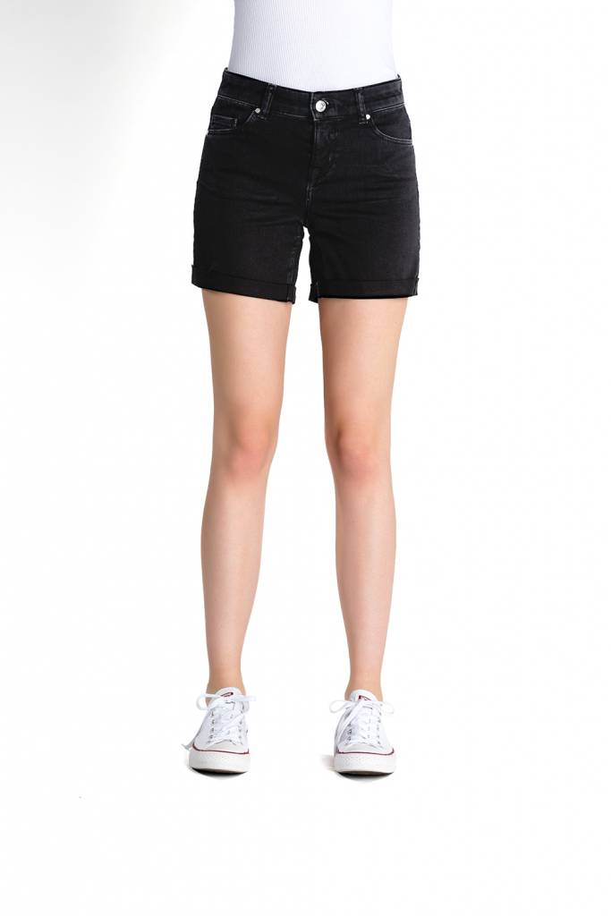 Emma - Denim Shorts - Black