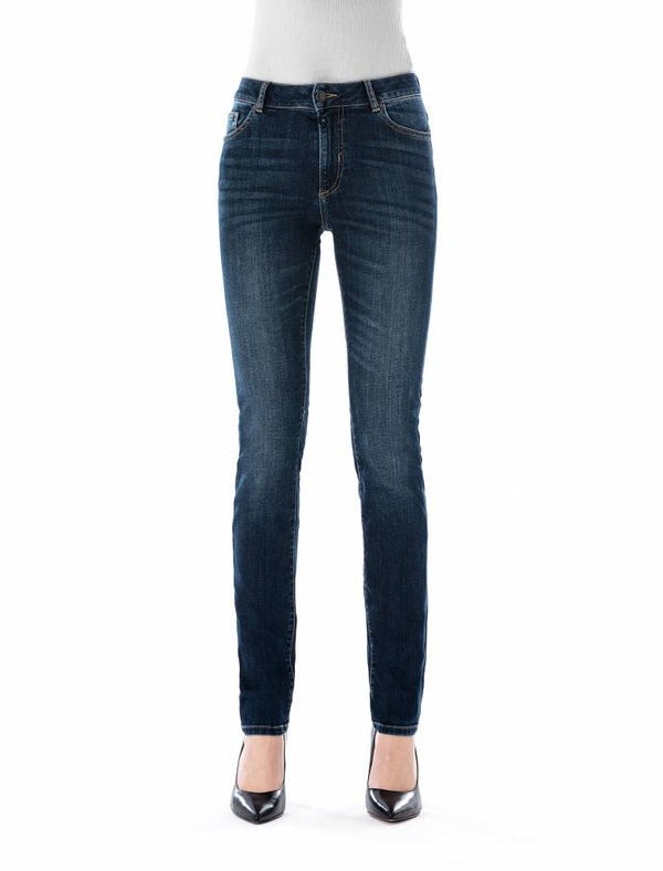 Monica - High Waist Skinny - True Blue