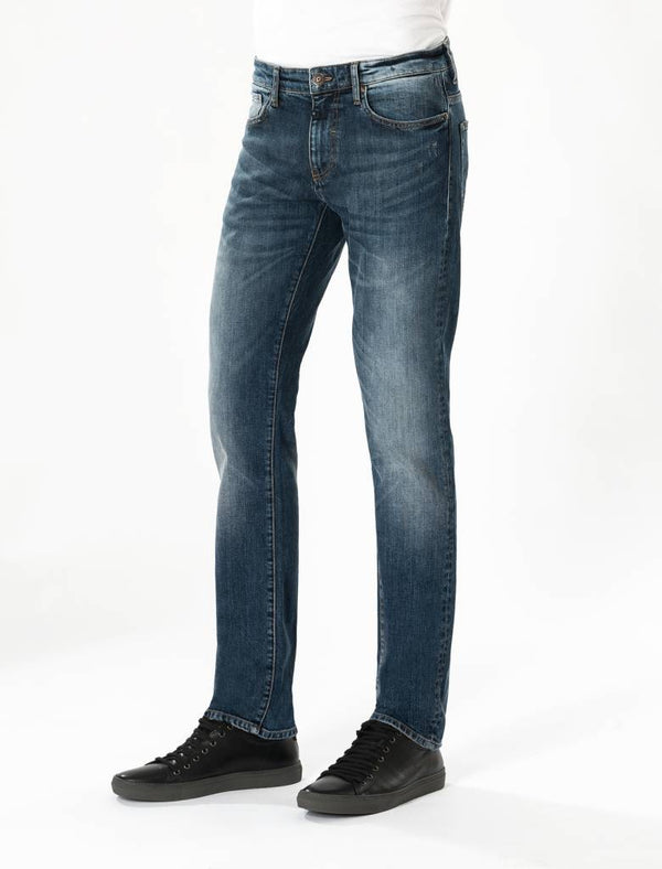 Rick Dark Blue Vintage Faded Jeans