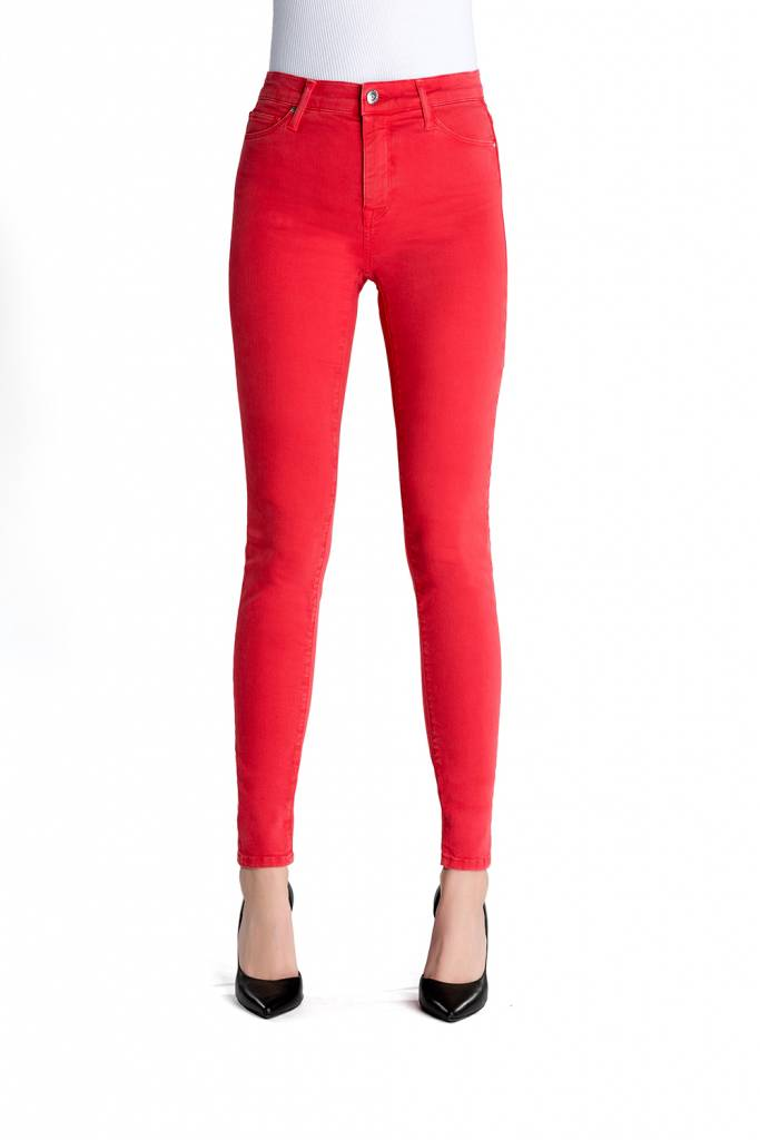 Sophia - Super Skinny Stretch - Poppy Red