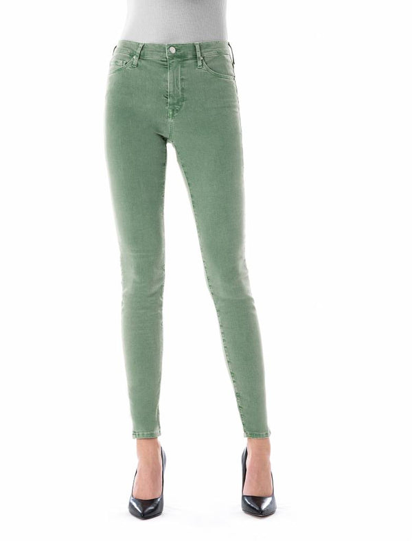 Sophia - Super Skinny Stretch - Middle Green