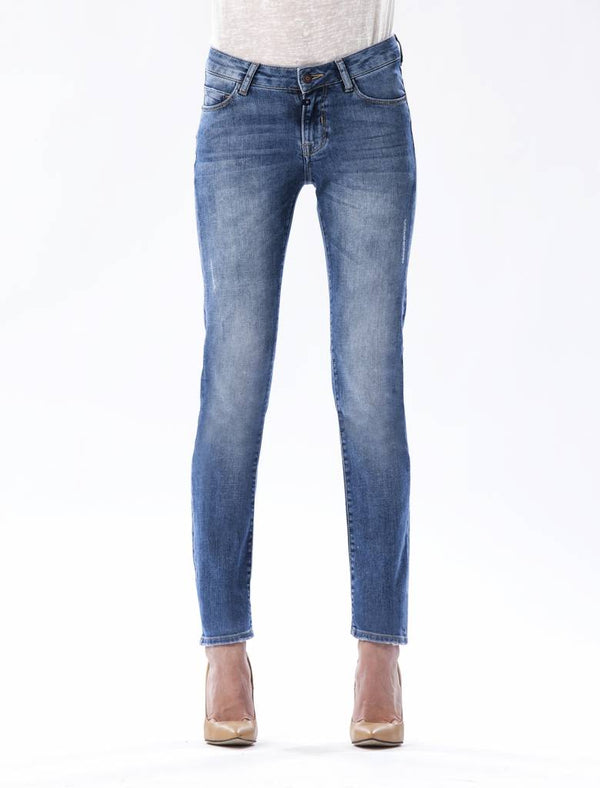 Susan Medium Blue Straight Jeans