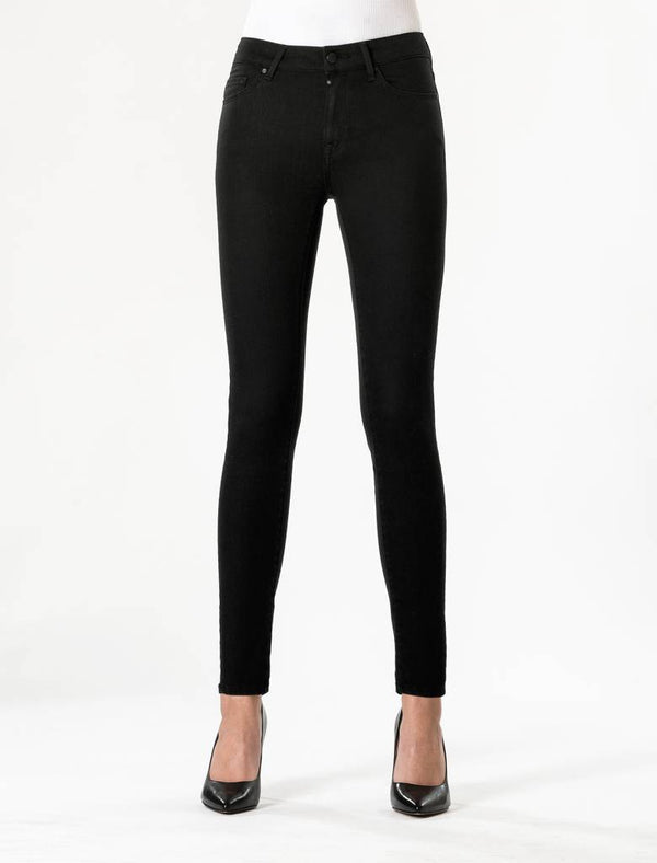 Sylvia - High Waist Super Skinny - Stay Black