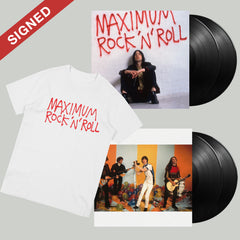 MAXIMUM ROCK 'N' ROLL: THE SINGLES (VOLUMES 1 + 2) 2LP (SIGNED) + T-SHIRT