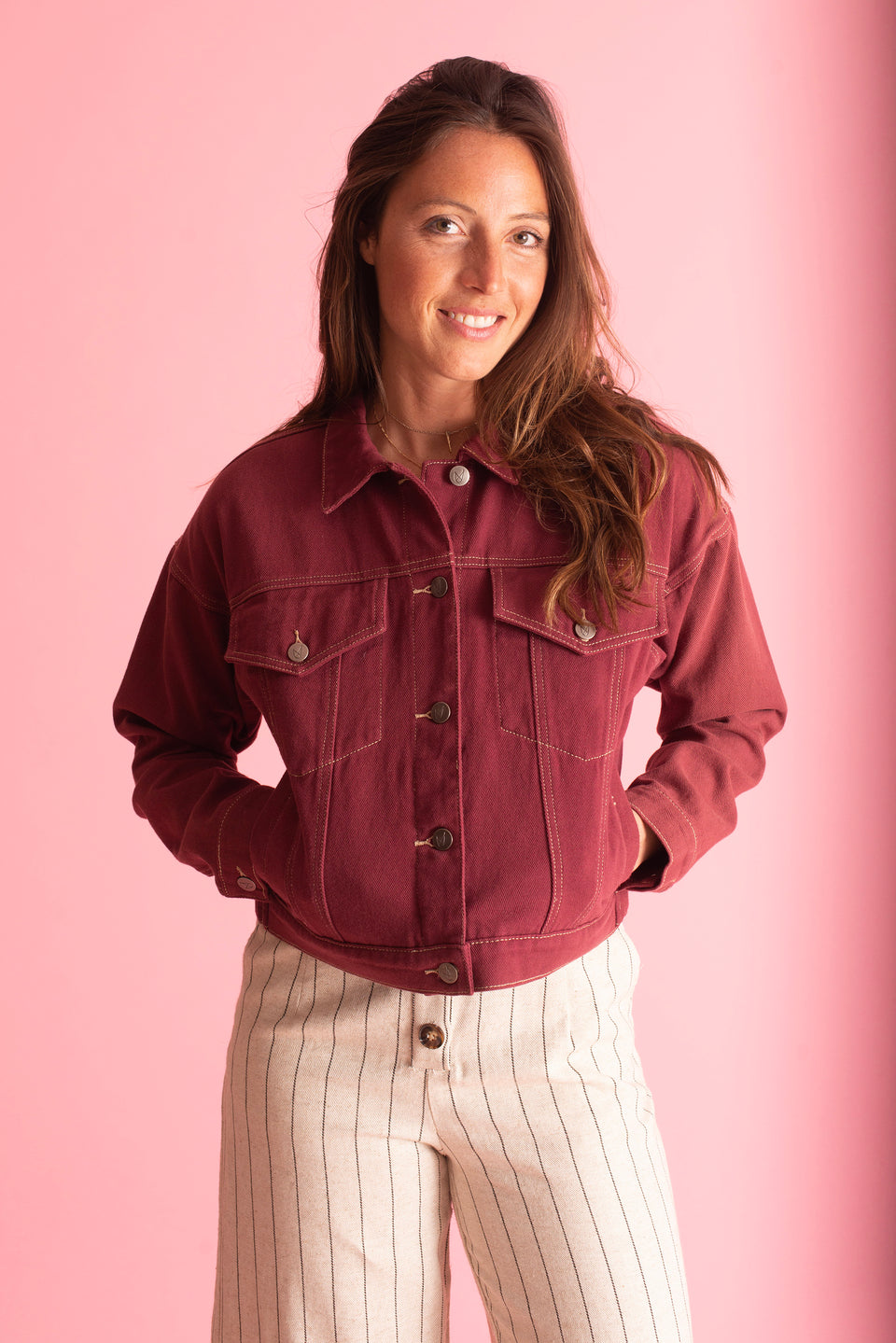 Mink Pink Berry Denim Jacket