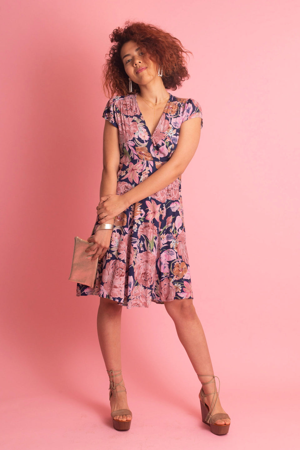 Rolla's Rose Wrap Dress