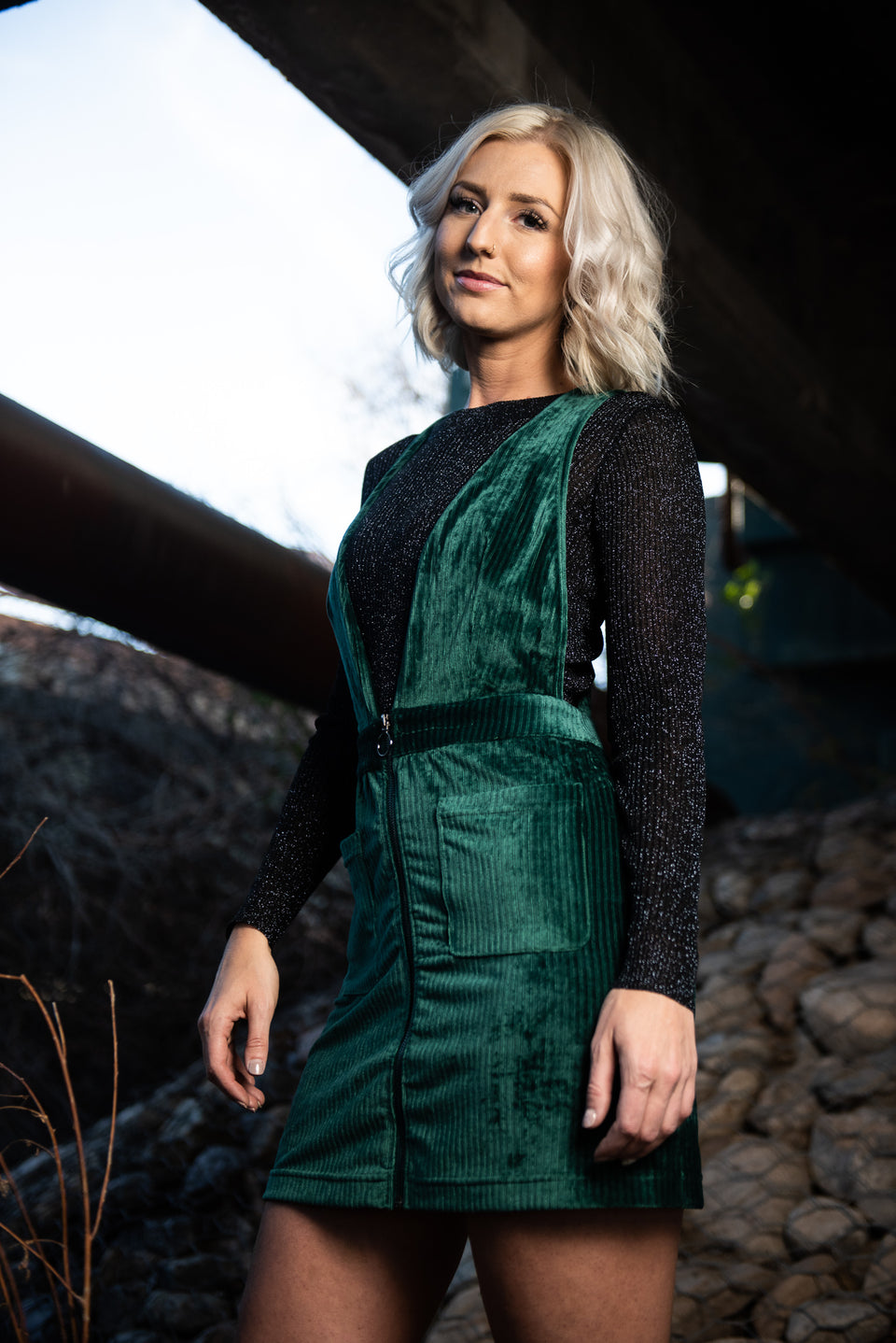Emerald Overall Dress