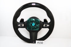 New BMW 1, 2, 3, 4 Series X3 / X4 / X5 / X6 / F15 / F16 / F20 / F22 / F30 Carbon Steering Wheel With Airbag | 32307848338 | 32307845797 | #150 (check)