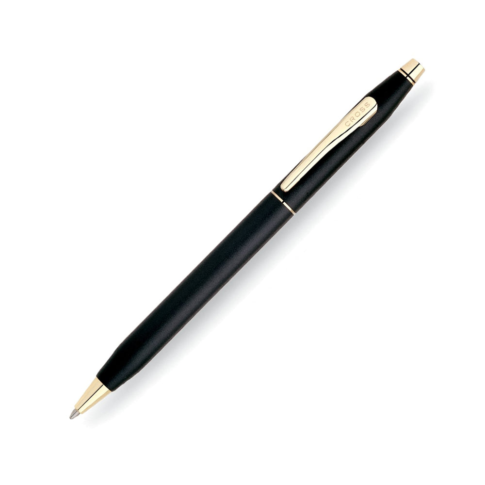 Cross Classic Century Black Ballpoint Pen with 23KT Gold-Plated