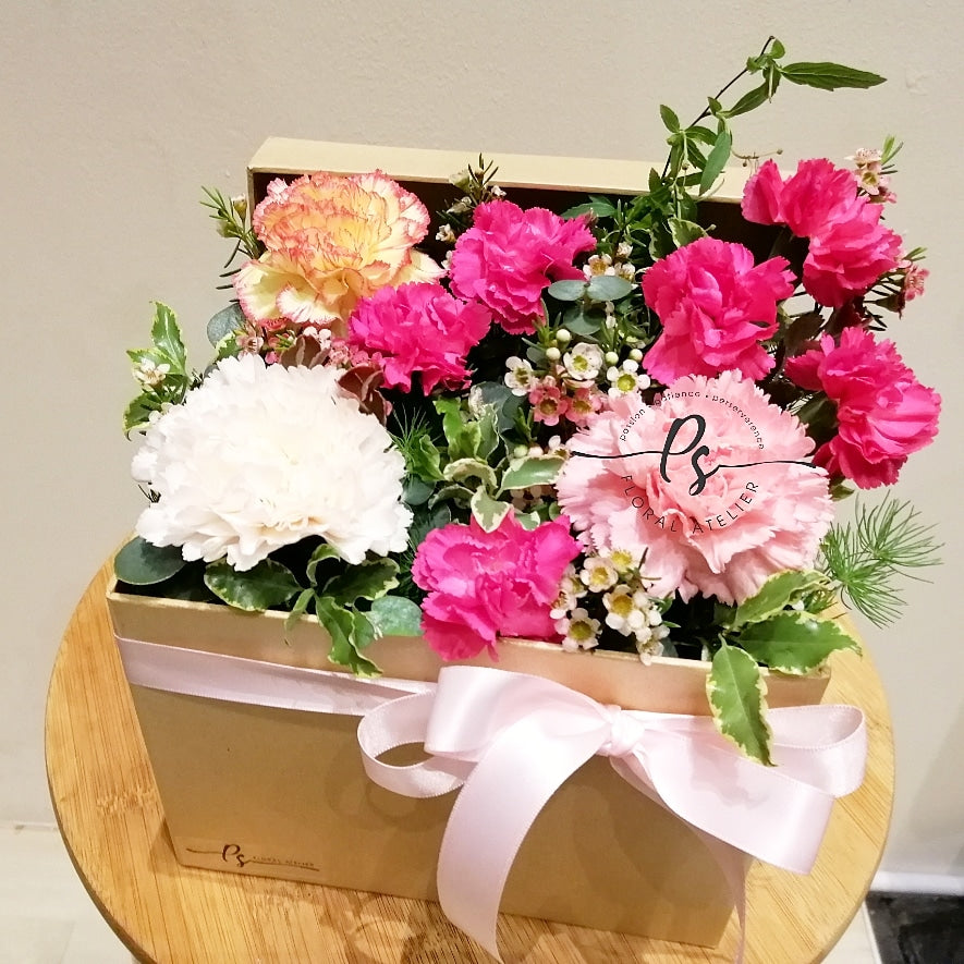 Carnation Flower Box