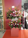 2-tiers Sincerely Greetings  Congratulatory Flower Stand