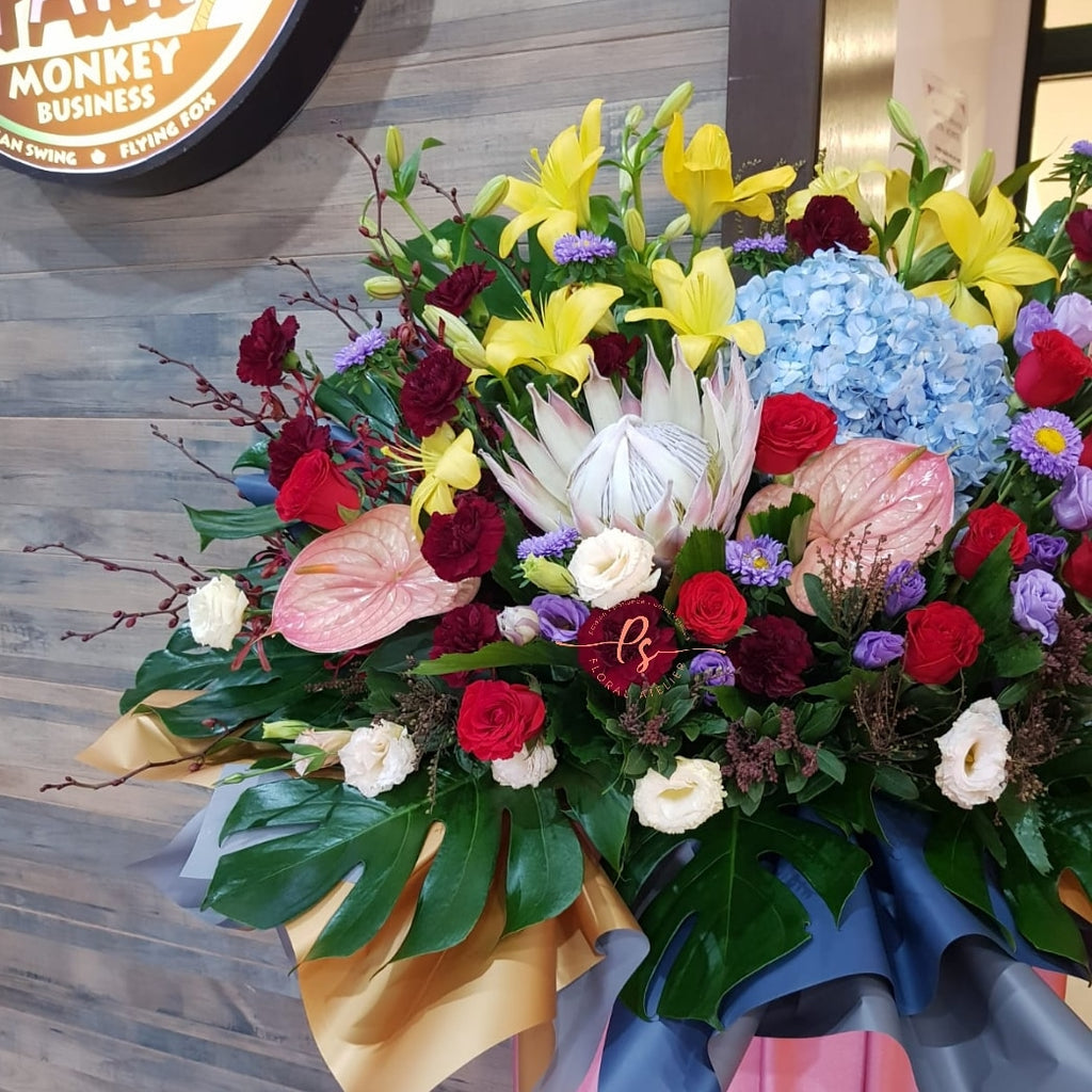Live Colorfully Congratulatory Flower Stand
