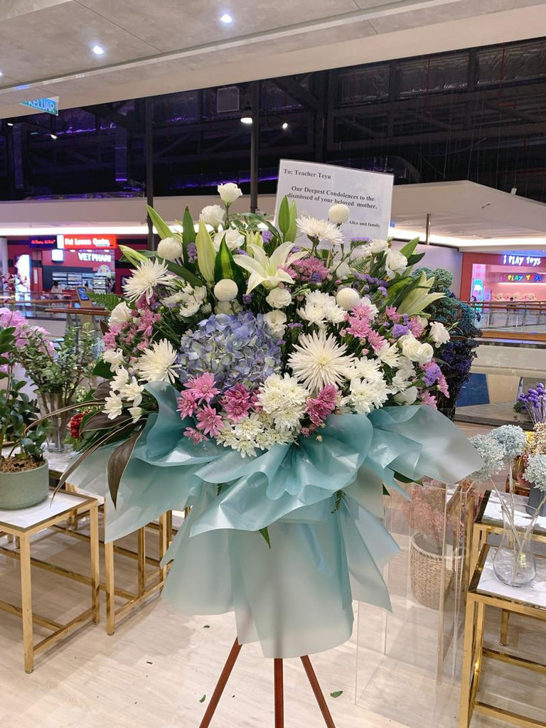 Be with you Condolences Flower Stand