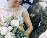 Rustic Bridal Bouquet & Bridegroom Boutonniere