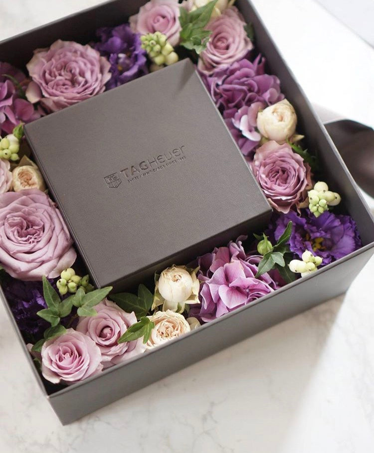 Grandeur Purple Flower Box