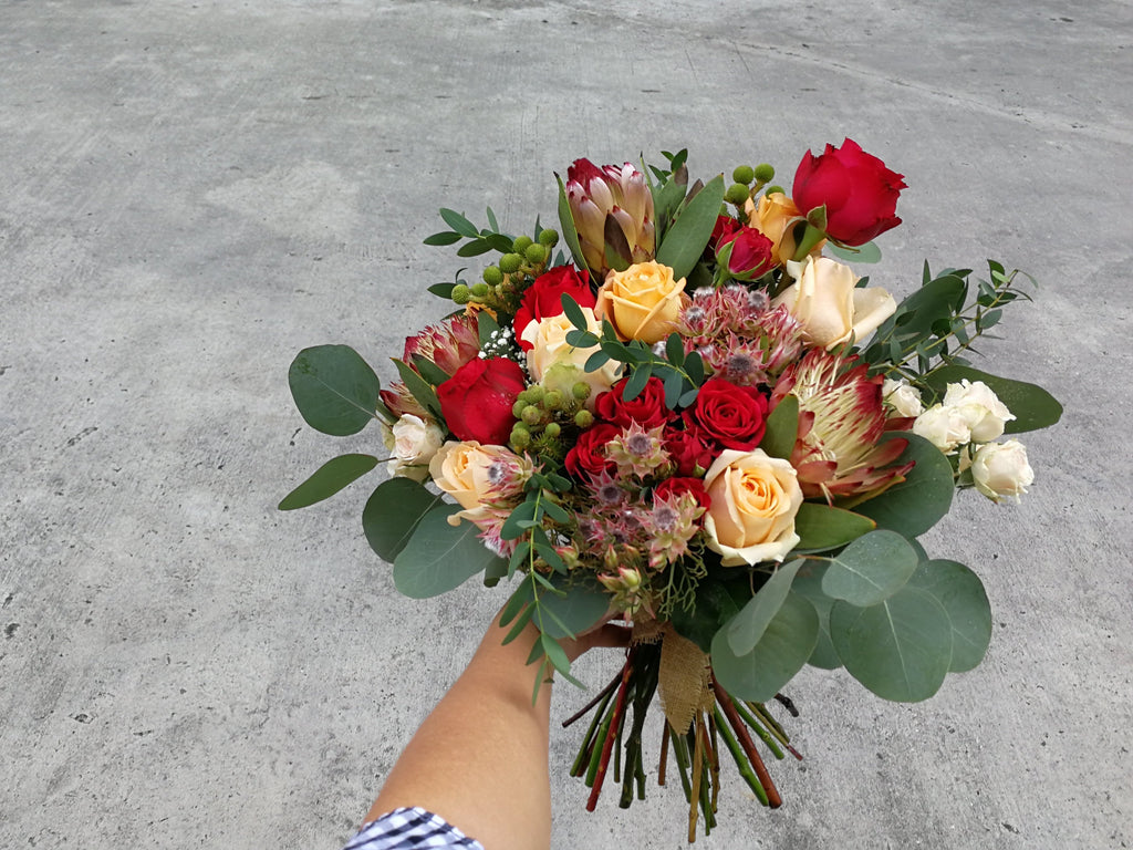 Protea Exotic Bridal Bouquet