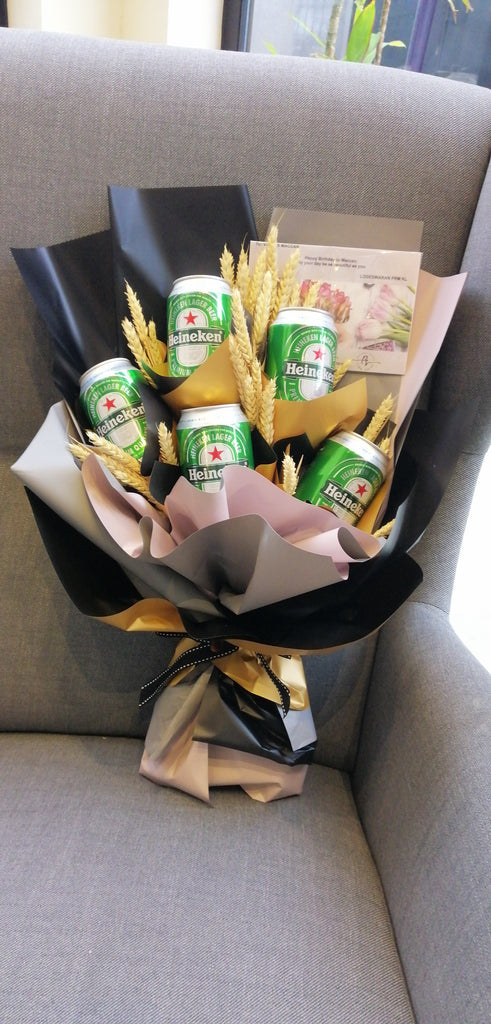 For Him Beer Gift Bouquet (size 3 or 5 cans)