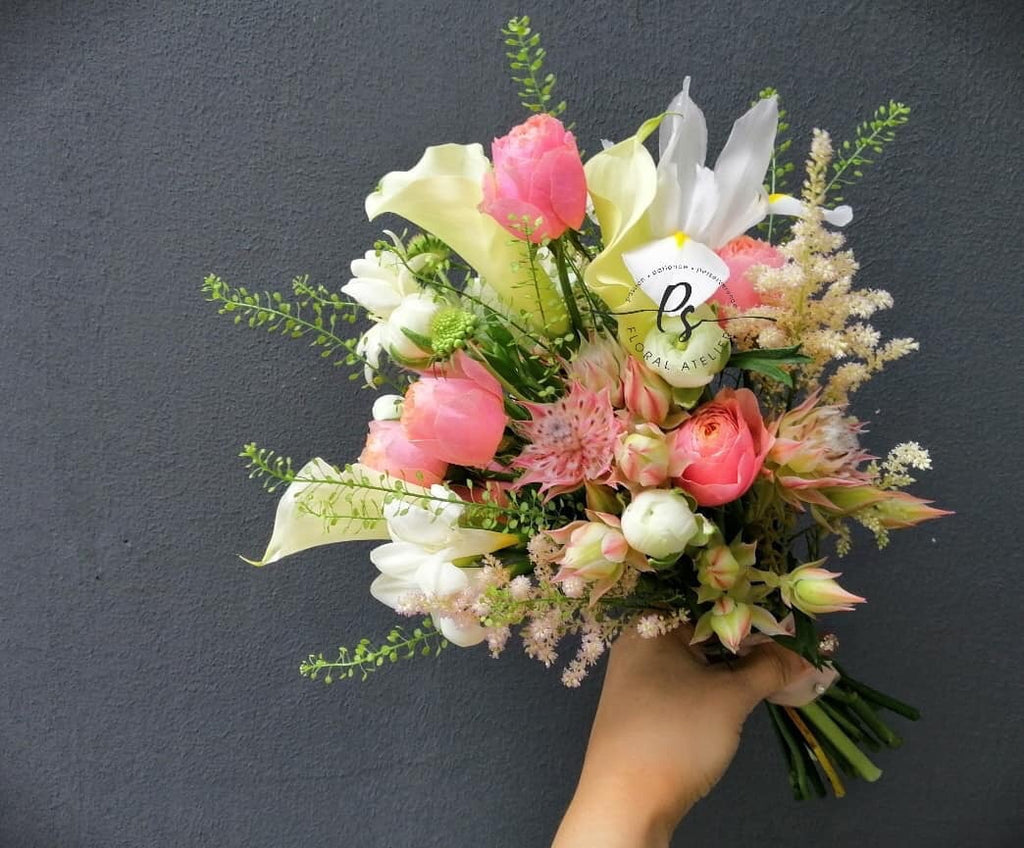 Korean Pastel Bridal Bouquet